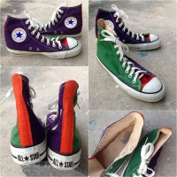 Vintage Converse All Stars, made in USA, Tricolor